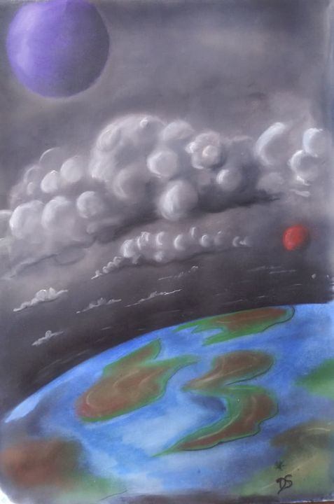 Happy Red Moon - Deek's Art