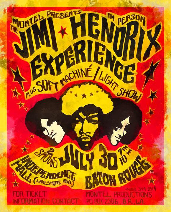 HENDRIX LIVE IN BATON ROUGE - PRINTOPIA