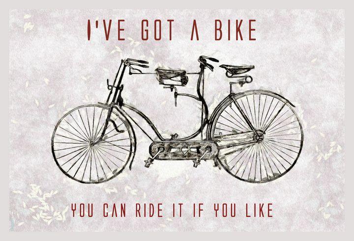 FLOYD - Bike - Digital Painting - PRINTOPIA