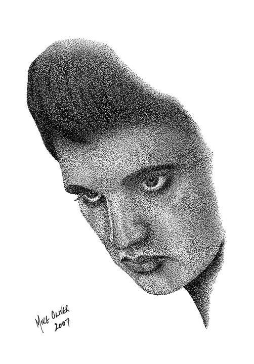 Canvas art - Elvis Presley - Mike Oliver Pointallism
