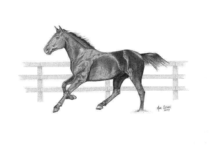 Horse pointallism - Mike Oliver Pointallism