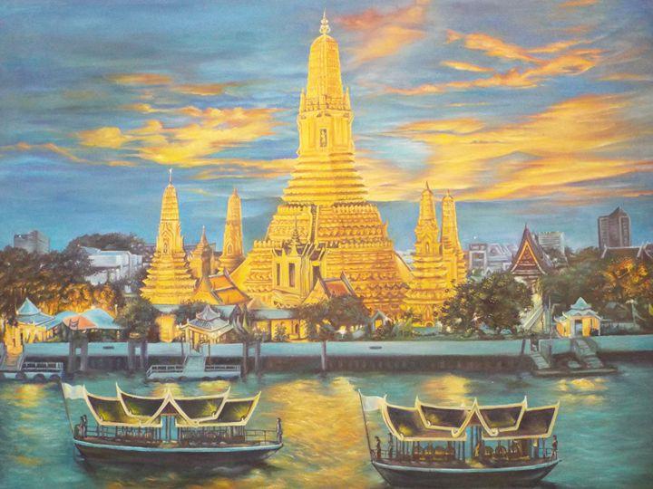 Wat Arun, Bangkok - Piman Art