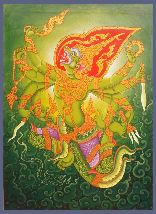 Hanuman rampant. - Piman Art