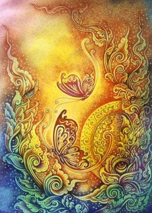 Be a Butterfly - Piman Art