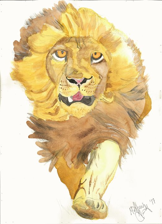 """Lion of the Tribe of Judah"" - Watered"