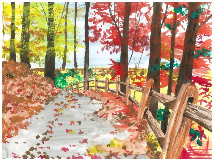 Fall Path - Watered