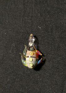Glass drip pendant