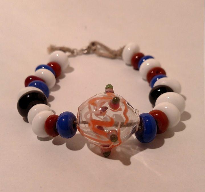 Glass beaded bracelet - MagmaGlass