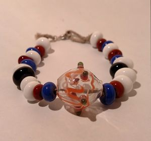 Glass beaded bracelet - MagmaGlass
