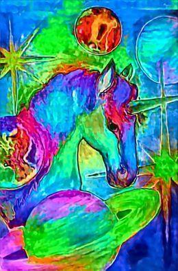 cycadelic unicorn - compu art
