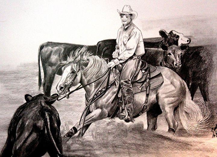 Palomino Cutting Horse - The Master's Hand