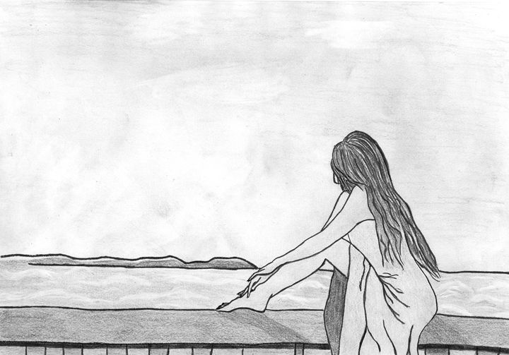Girl on the balcony - Vall