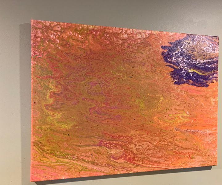 Orange blast - Canvas Acrylic: art by TQivxx
