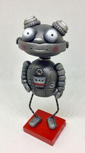 Robot retro style sculpture art