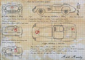 Aston Martin DBR3 - Mansky's automotive art
