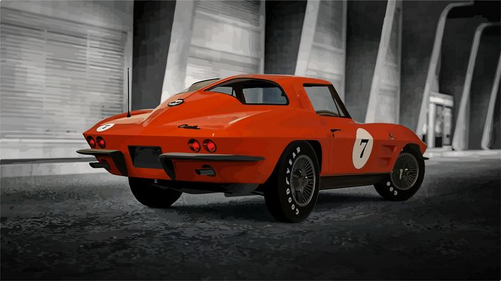 "Chevrolet Corvette ""Stingray"" - Mansky's automotive art"