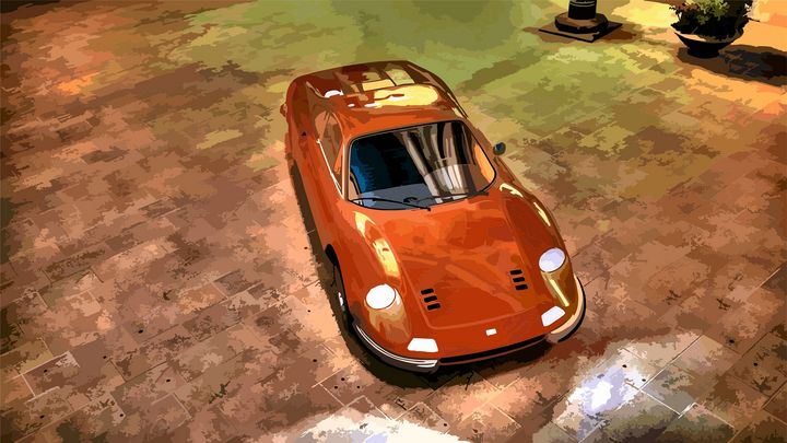 Ferrari Dino - Mansky's automotive art