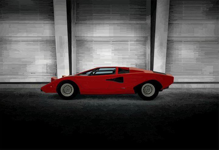Lamborghini Countach - Mansky's automotive art