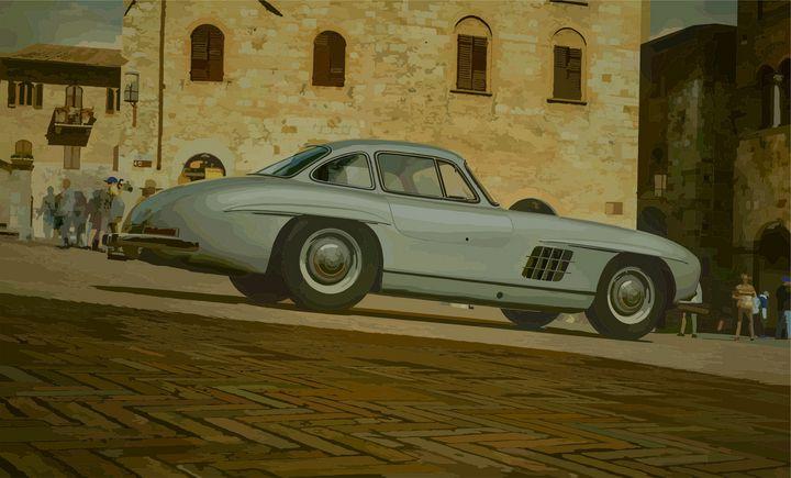 """Mercedes-Benz 300 SL """"Gullwing"""" - Mansky's automotive art"""