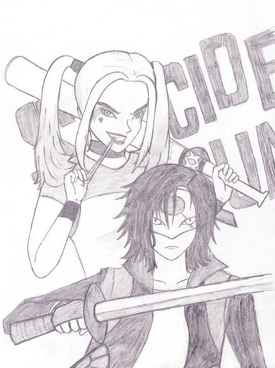 Harley Quinn and Katana Animated - Ucum Store