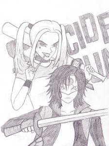 Harley Quinn and Katana Animated