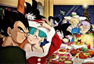 Christmas Eve Party in Dragon Ball