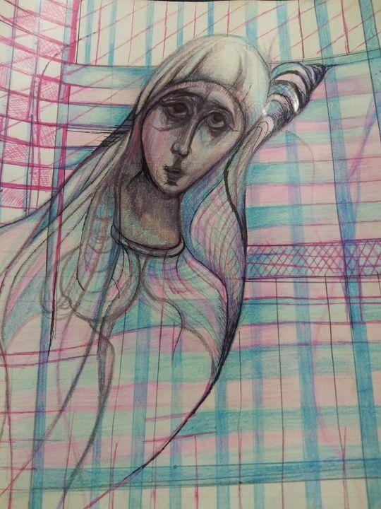 Faith imprisoned in a digital world - Art of Joan frances fisher