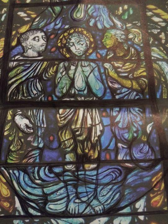 The baptism of Christ - Art of Joan frances fisher