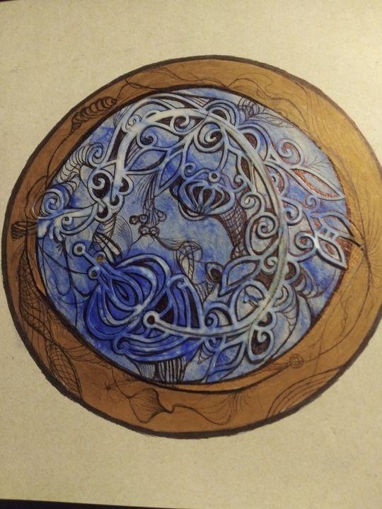 Blue dragon - Art of Joan frances fisher