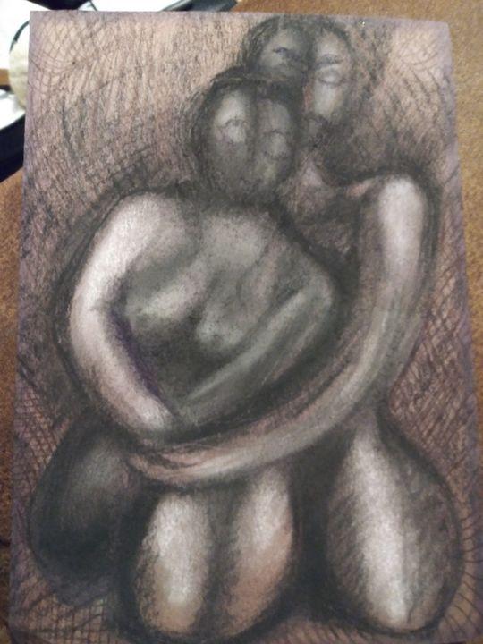 Love embrace - Art of Joan frances fisher