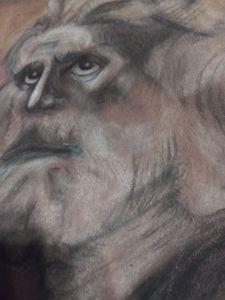 Mose's gaze upward to the Divine glo