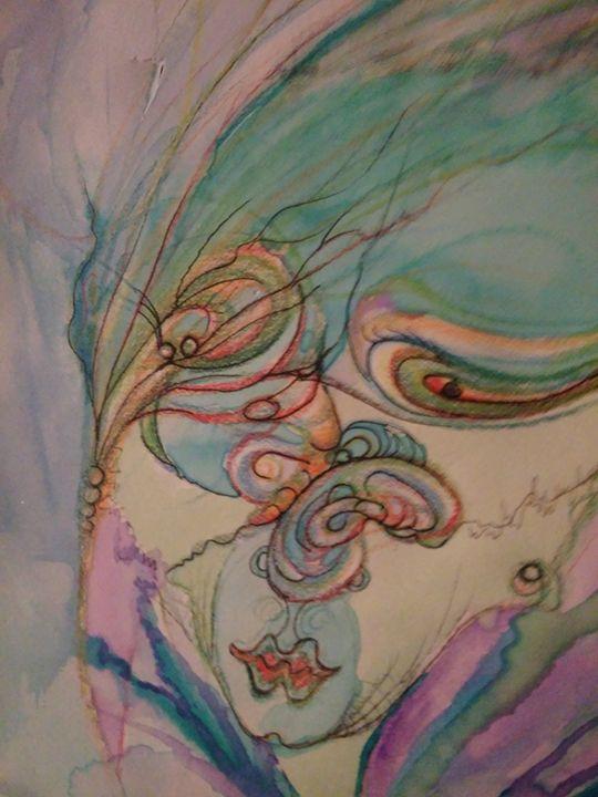 Drunk lady - Art of Joan frances fisher