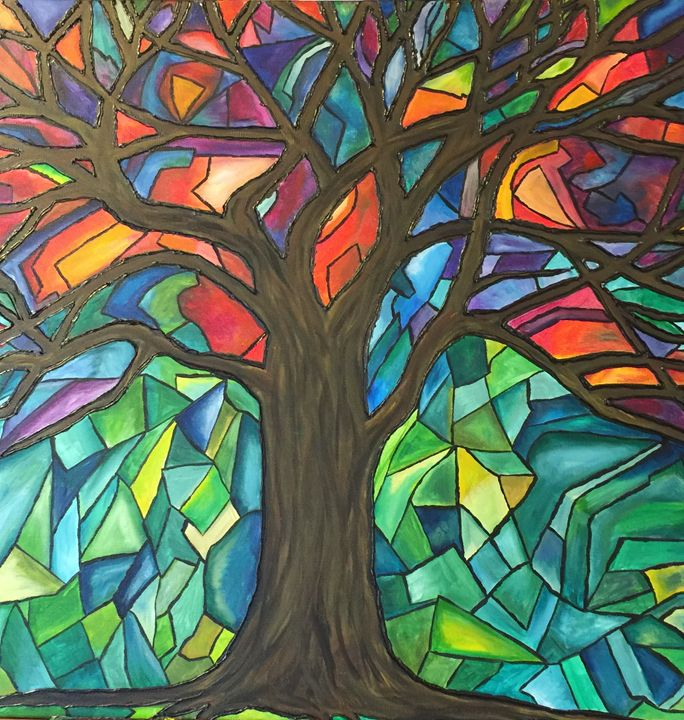 Vibrant Grove - AcrylicArtistry