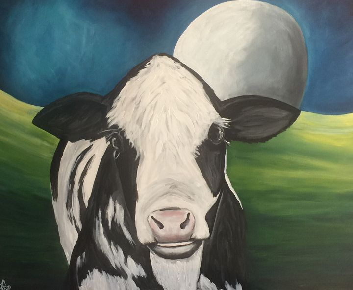 The Cow that Jumped Over the Moon - AcrylicArtistry