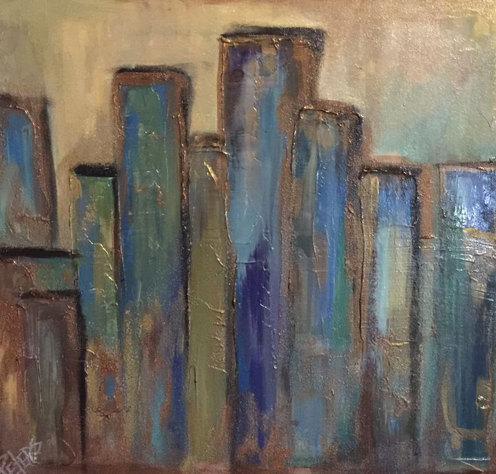 City Skyline - AcrylicArtistry