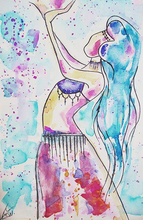 Belly Dancer - CrystalWellingsArtz