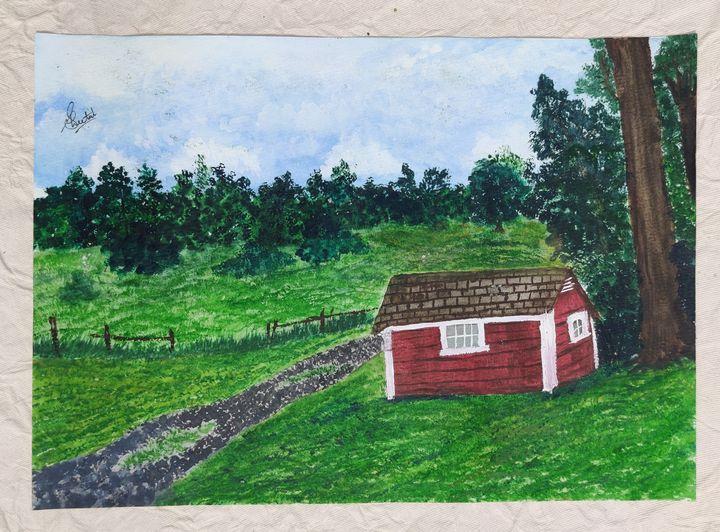 Barn Landscape - Roohani Kalakriti