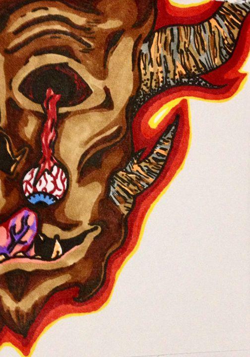 Demon inside my head - Broken Reality Art
