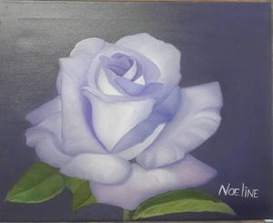 Purple rose - NOELINE'S ART GALLERY