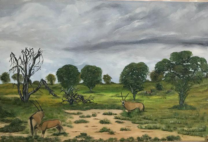 Kalahari scene - NOELINE'S ART GALLERY