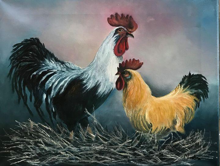 Farm scene - NOELINE'S ART GALLERY