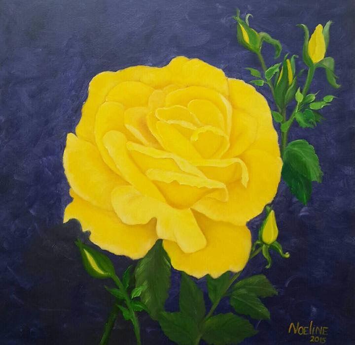 Yellow rose - NOELINE'S ART GALLERY