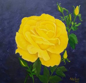 Yellow rose - NOELINE'S ART GALLERY