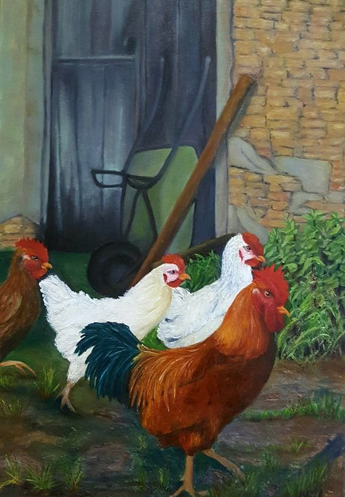 Farm chicks - NOELINE'S ART GALLERY