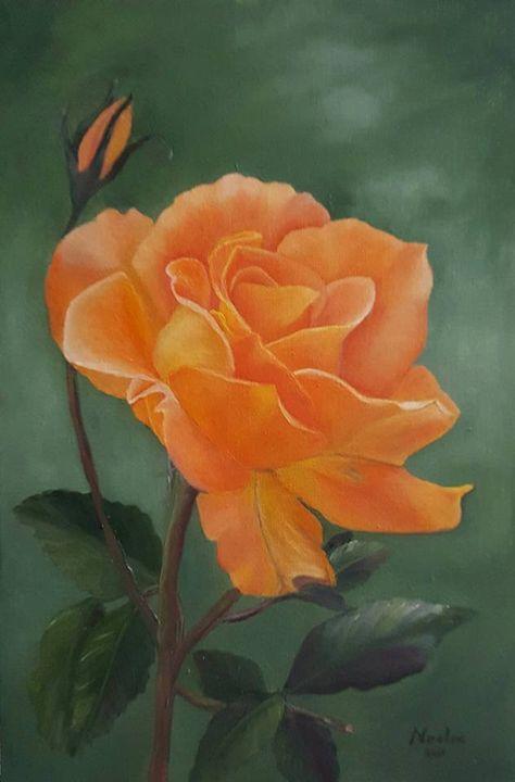 Orange rose - NOELINE'S ART GALLERY