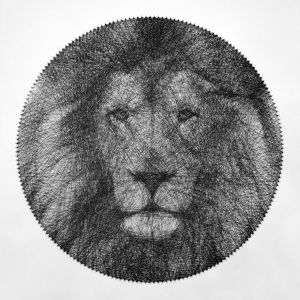 Lion Portrait String Art - Andrey Saharov