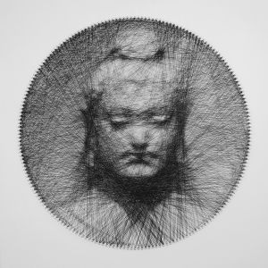 Buddha String Art Installation