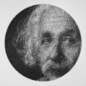 Albert Einstein string art portrait