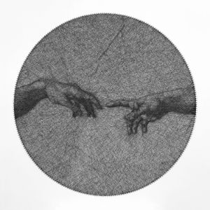 The Creation of Adam string art