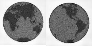 Earth Globe String Art - Andrey Saharov